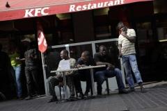 © Stephan NORSIC, France, Paris le 25/05/10. Piquet de greve. KFC, boulevard de Sebastopol. Paris.
