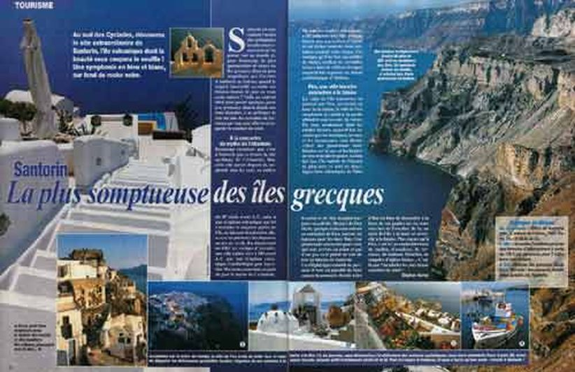 Sujets tourisme. Santorin (Grèce)