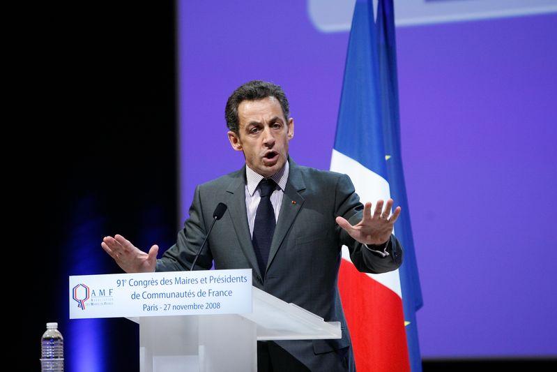 Nicolas Sarkozy au 91eme congres des maires. Paris