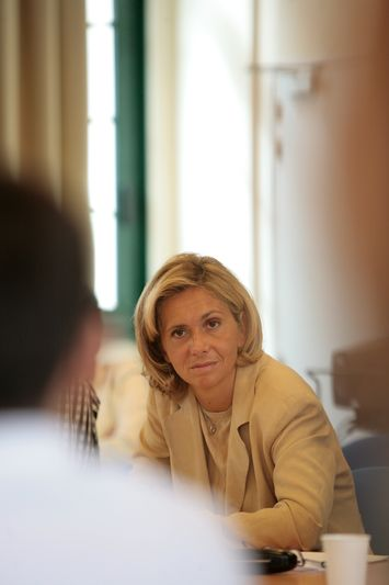 Paris (75) : Valérie Pecresse en visite au lycée Claude Bernard (02/09/08)