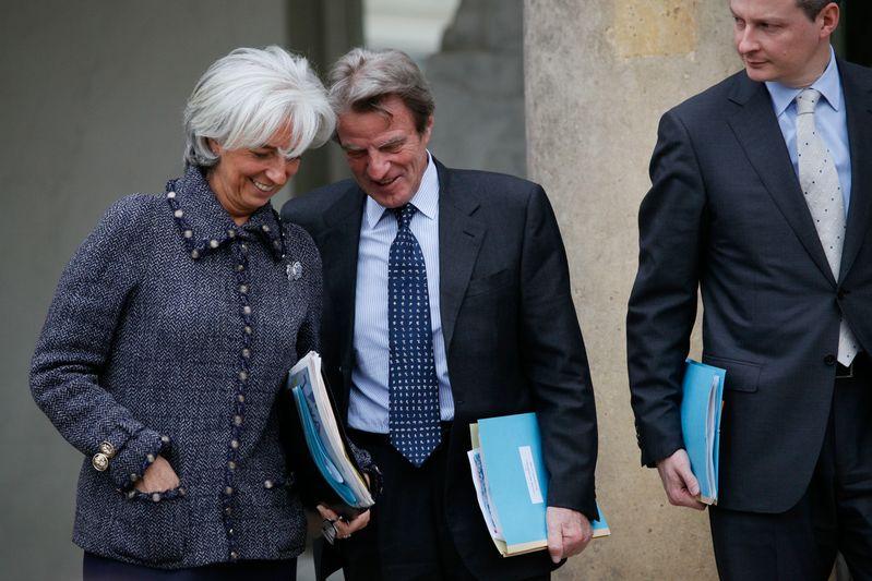 Christine LAGARDE, ministre de l Economie, de l Industrie et de l Emploi, et Bernard KOUCHNER, Ministre des Affaires etrangeres et europeennes Credit Norsic/face to face